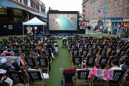 Tribeca Citizen  Seen  Heard Outdoor Movies at the Seaport