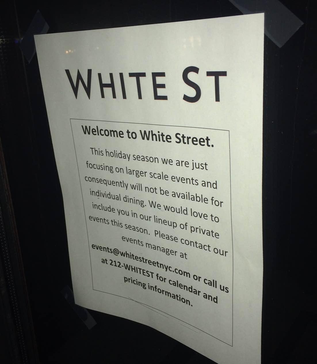 hight resolution of white street restaurant sign