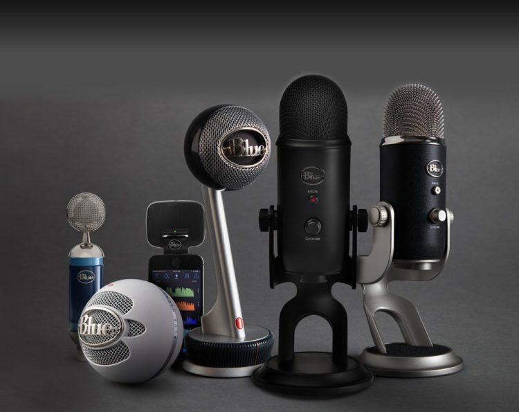 Familia al completo de los productos de Blue Microphones