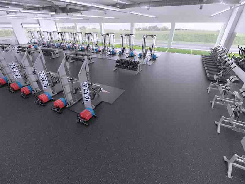 weight room design rear view