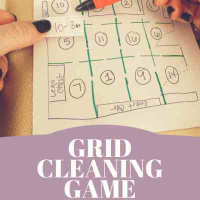 How to Get Your Kid to Clean Their Room in a Fun Way- Grid Cleaning Game