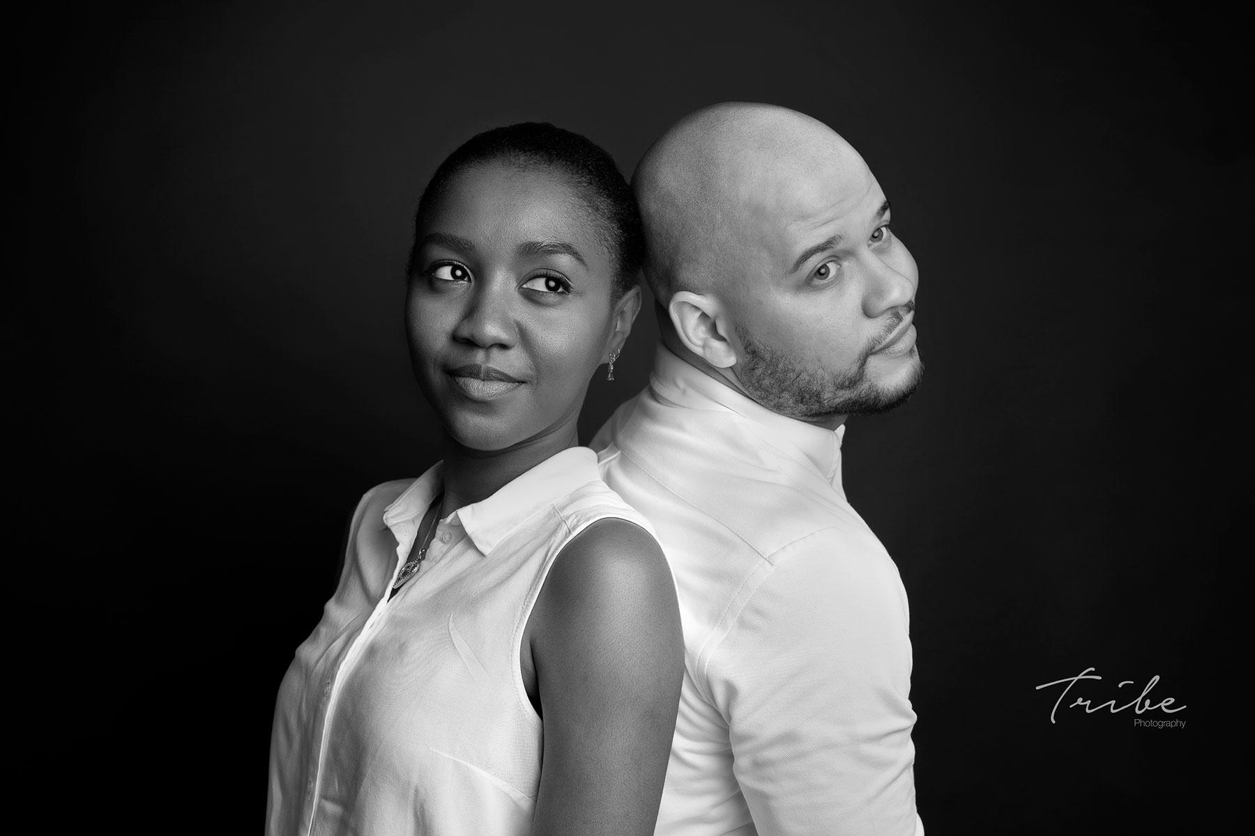 Photo portrait couple mixte