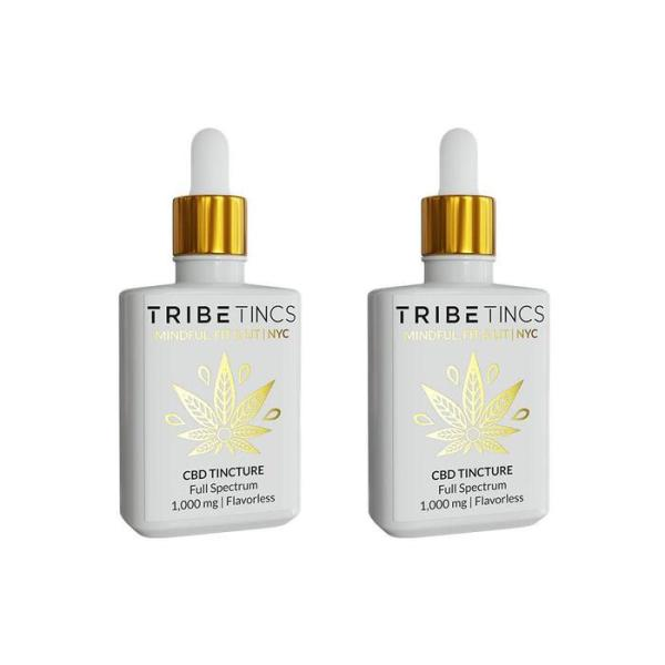CBD Tinctures 2-Pack - Flavorless or Lemon 500-1500 mg