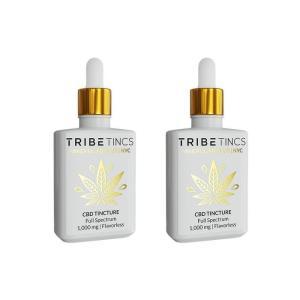 CBD Tinctures 2-Pack - Flavorless or Lemon 500-1500 mg