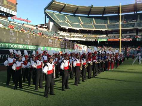 FUHS marching band takes the field