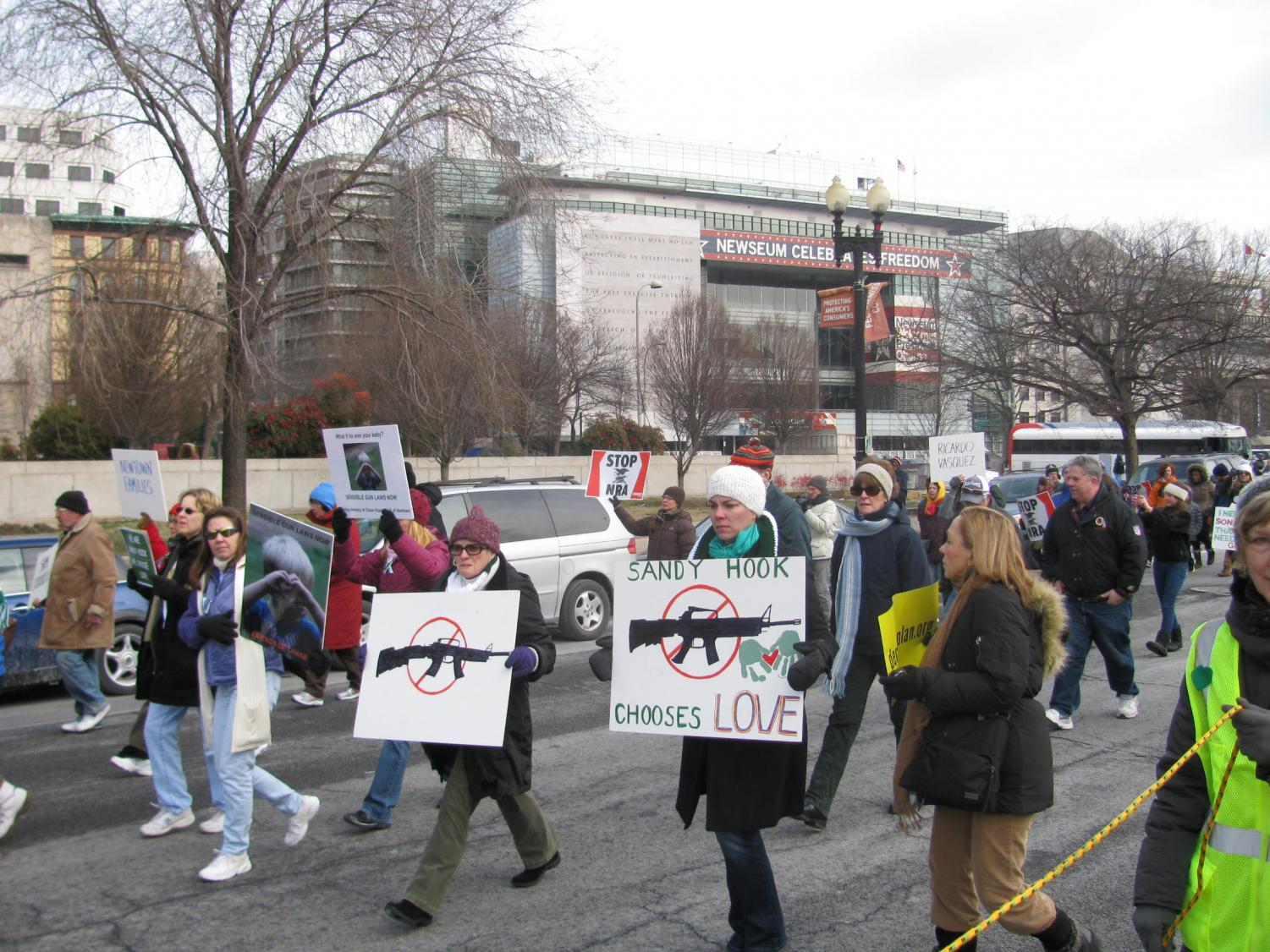 March on Washington for Gun Control, Jan. 23, 2013. Source: https://commons.wikimedia.org/wiki/File:March_on_Washington_for_Gun_Control_032.JPG
