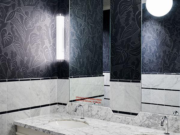 le politique, austin, interior design, bathroom