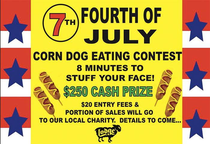 black sheep lodge corn dog austin contest fourth july