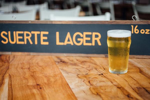 suerte lager austin food beer
