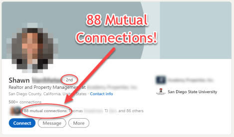 Top connection target: 88 mutual connections!