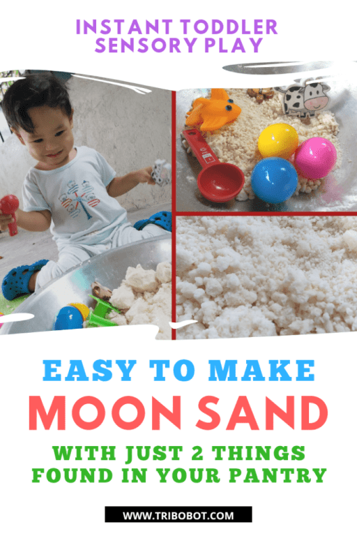 Get Your Toddler Busy With Sensory Play Using DIY Moon Sand