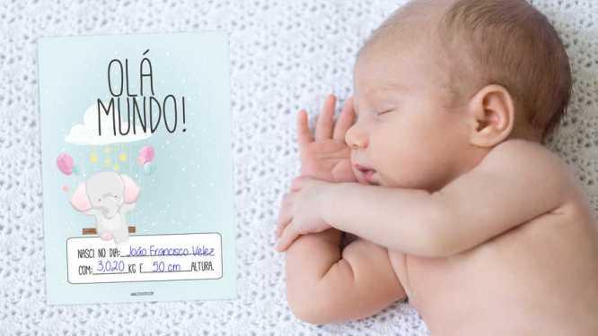 Cartões para registar Cutxi Cutxi o crescimento do bebé