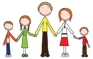Famille recomposée merveilleusement unie