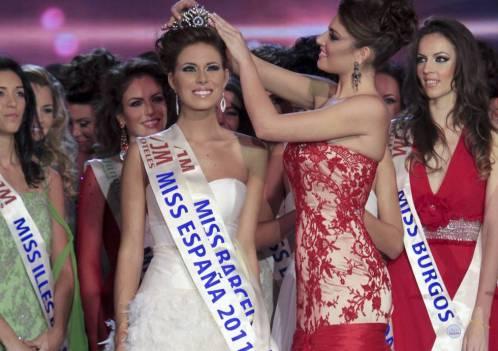 Imagen de la belleza femenina al final del concurso de Miss España 2011.