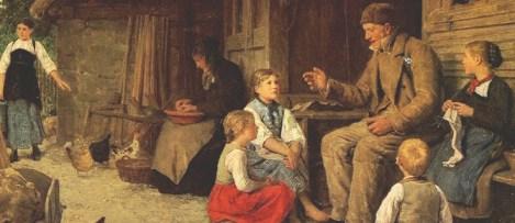 Imagen de un narrador contando una historia