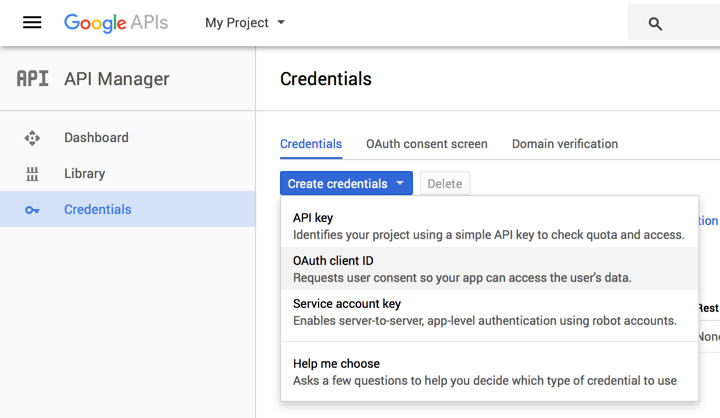 Get Google OAuth Client ID