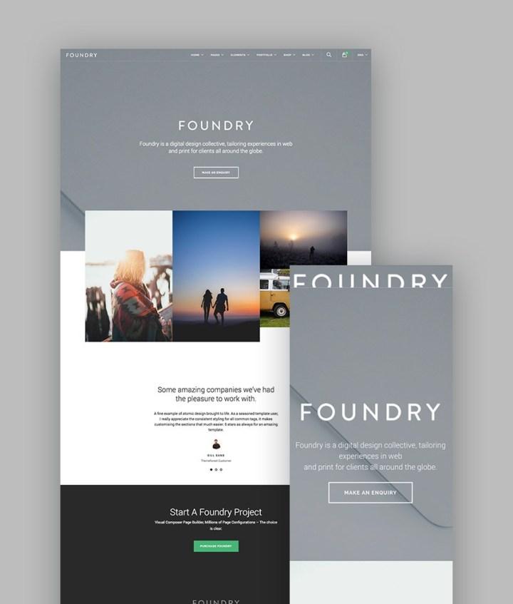 Foundry WordPress Portfolio Theme