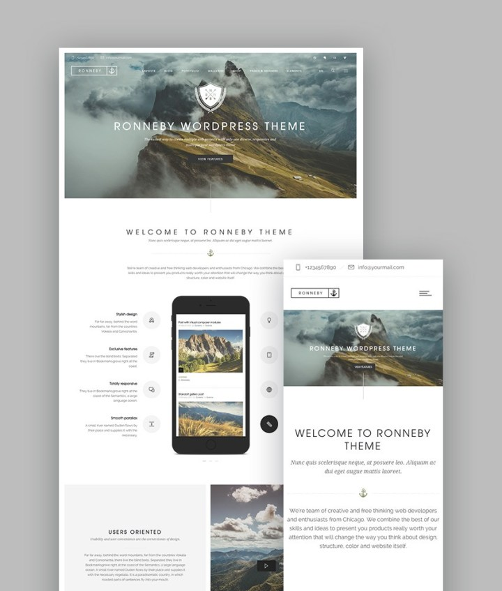 Ronneby WordPress Portfolio Theme