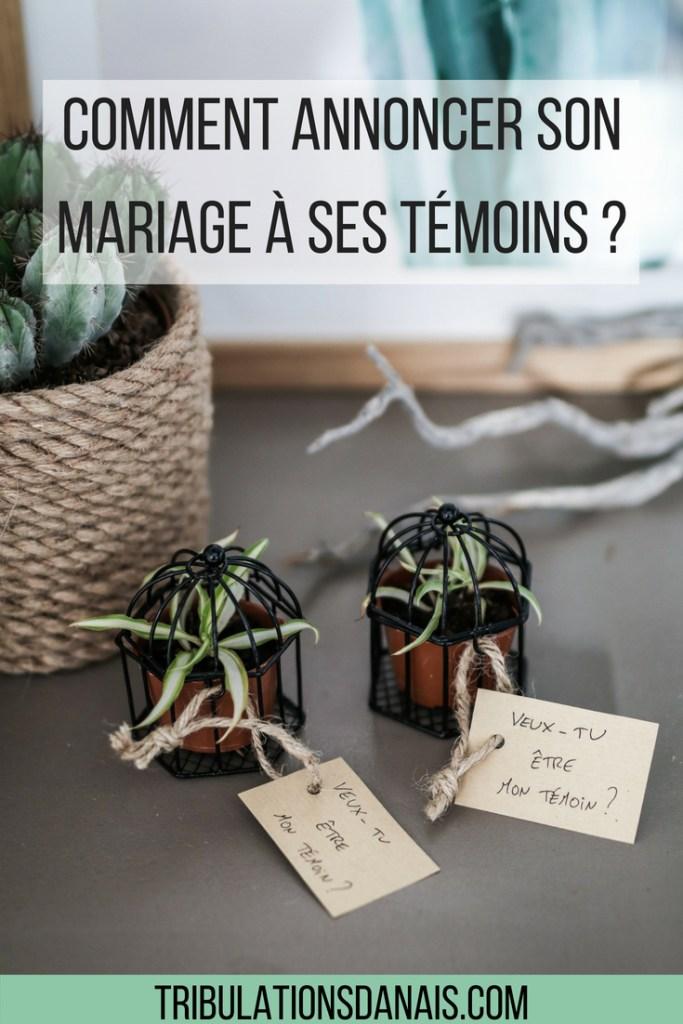 DIY comment annoncer son mariage à ses témoins