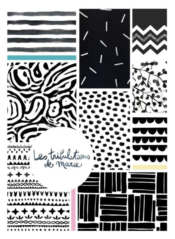 moodboard motif noir et blanc