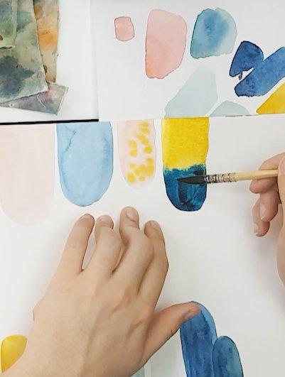 exercice débutant aquarelle
