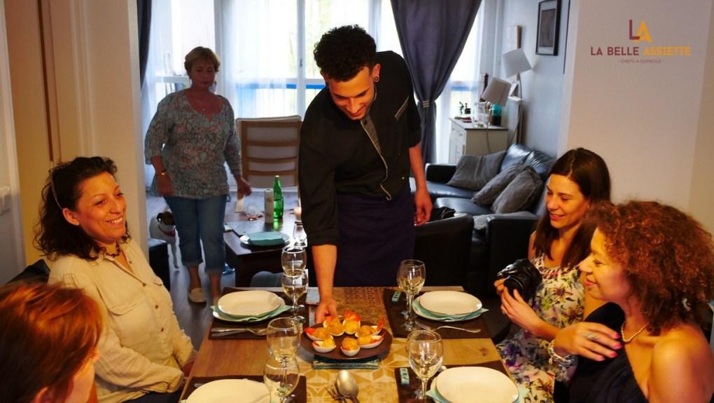 chef à domicile Steve Helan la Belle assiette