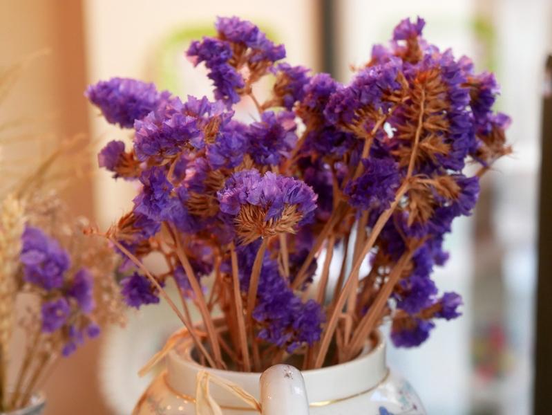 lundi soleil violet fleurs