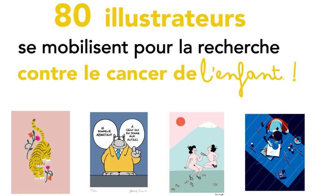 Dessine-moi-demain 80 illustrateurs se mobilisent pour la recheche contre le cancer de l'enfant