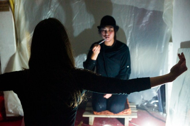 Performance par Alice Martins et Autumn Ahn / Photo : Sylvain Raybaud