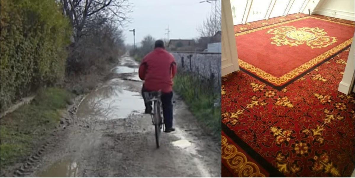 Додека газат врз скапи килими споделуваат видеа од калното Волково