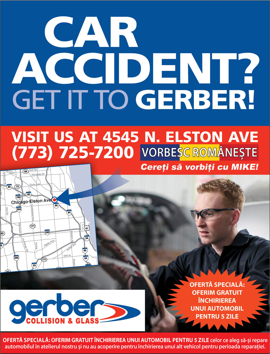 GERBER COLLISION – Special Offer to all readers & friends of Romanian Tribune Newspaper