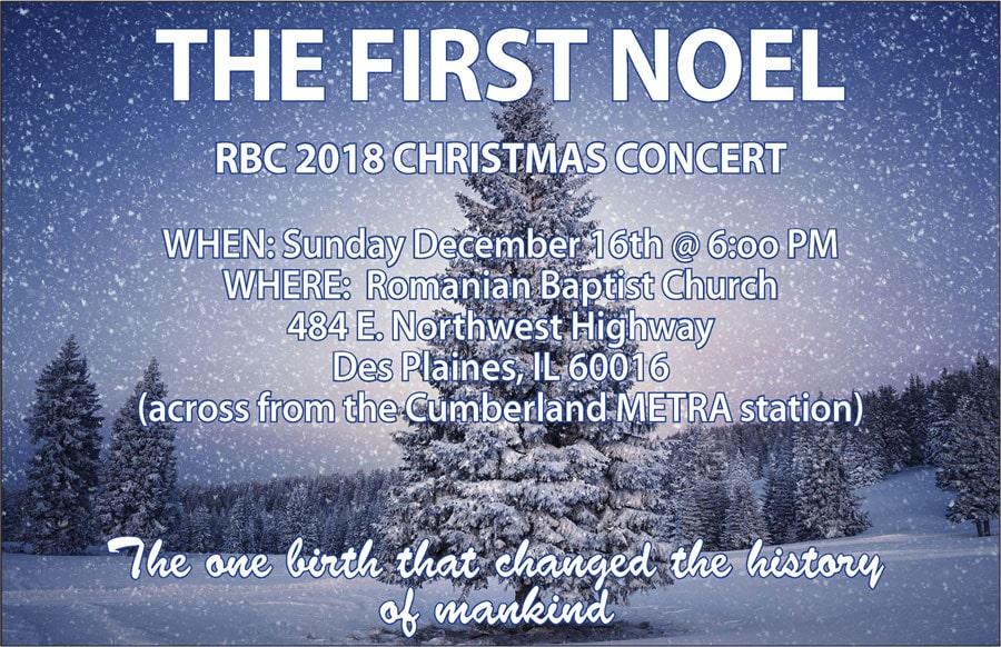 The First Noel – Concert de Crăciun la Biserica Baptistă Română din Des Plaines