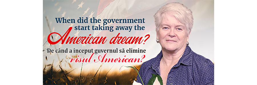 De când a început guvernul să elimine visul american?