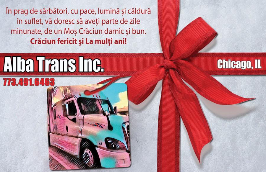 Alba Trans Inc: Crăciun fericit și La mulți ani!