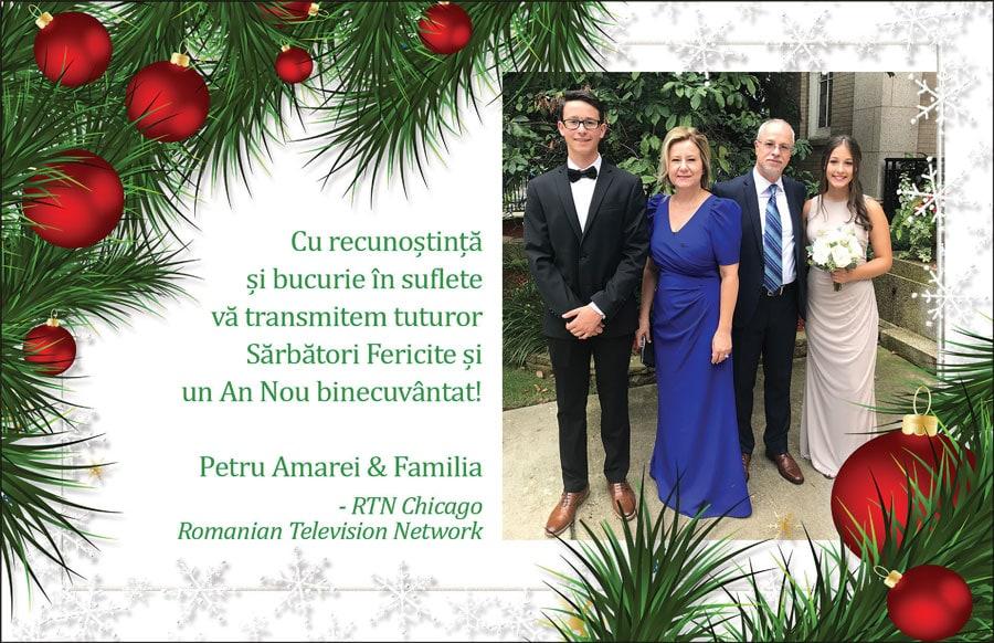 Petru Amarei: Sărbători Fericite și un An Nou binecuvântat!