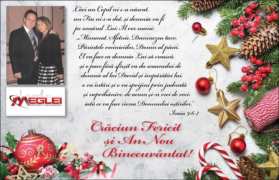 MEGLEI Prop. Mgmt.: Crăciun Fericit și An Nou Binecuvântat!