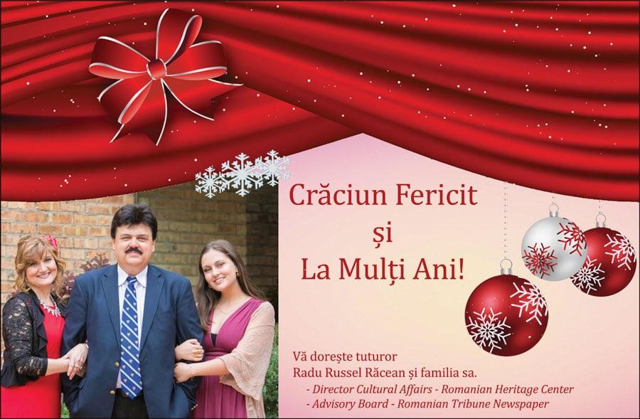Radu Russel Răcean și familia: Crăciun Fericit și La Mulți Ani!