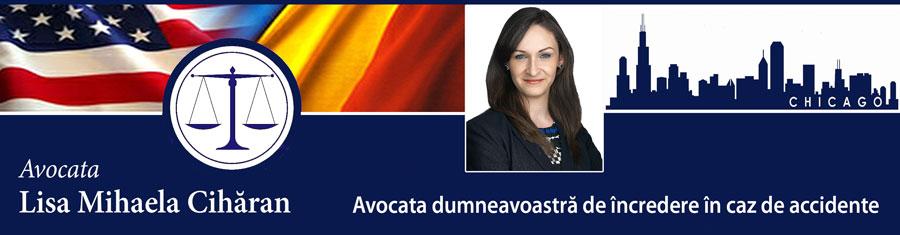 Lisa Mihaela Cihăran – Avocata dvs. de încredere în caz de accidente