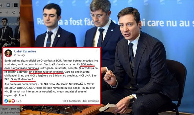 Dacă nu se dezice total de Andrei Caramitru, USR se înscrie în categoria partidelor extremiste