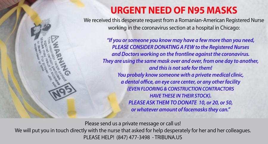 URGENT NEED OF N95 MASKS