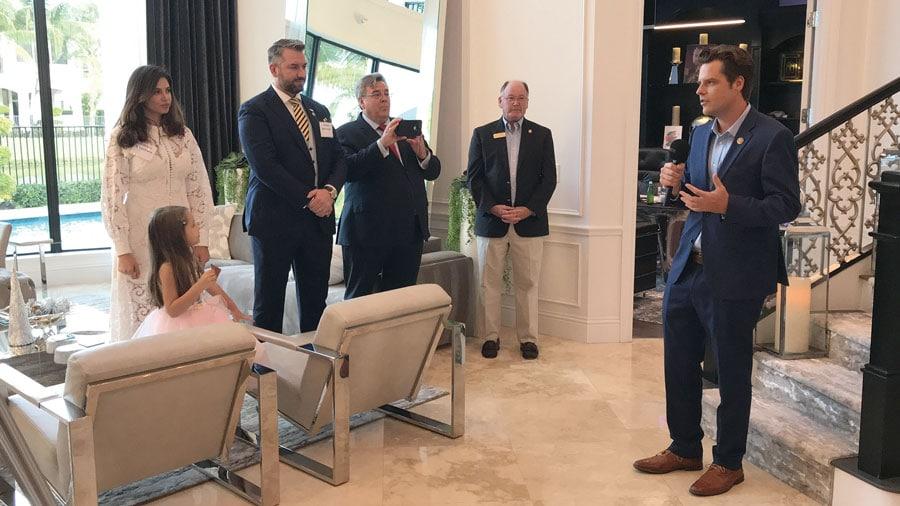 Întâlnire cu Congresmanul Matt Gaetz și conservatori din Florida – găzduită de familia Dragoș și Gabriela Sprînceană în locuința lor