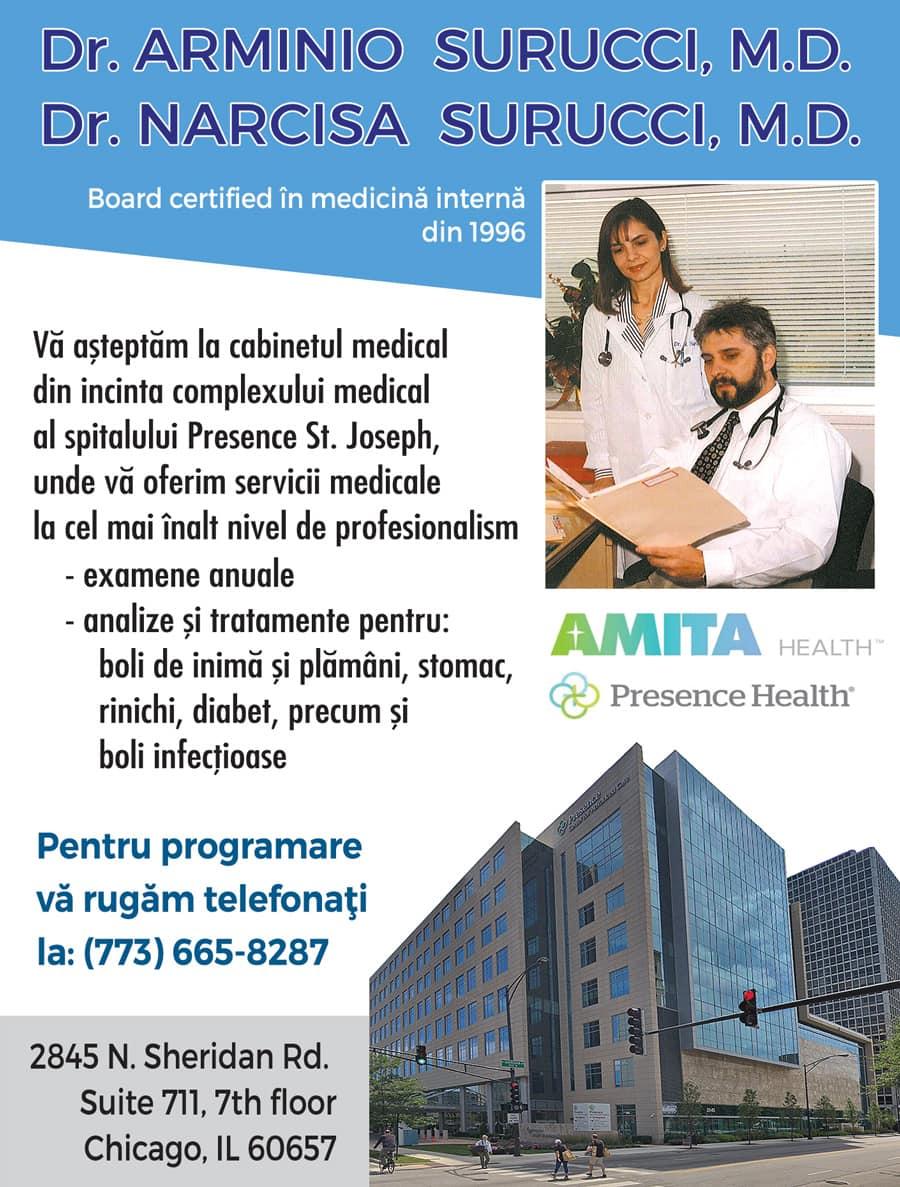 Doctorii Narcisa și Arminio Surucci – AMITA HEALTH – St. Joseph Hospital