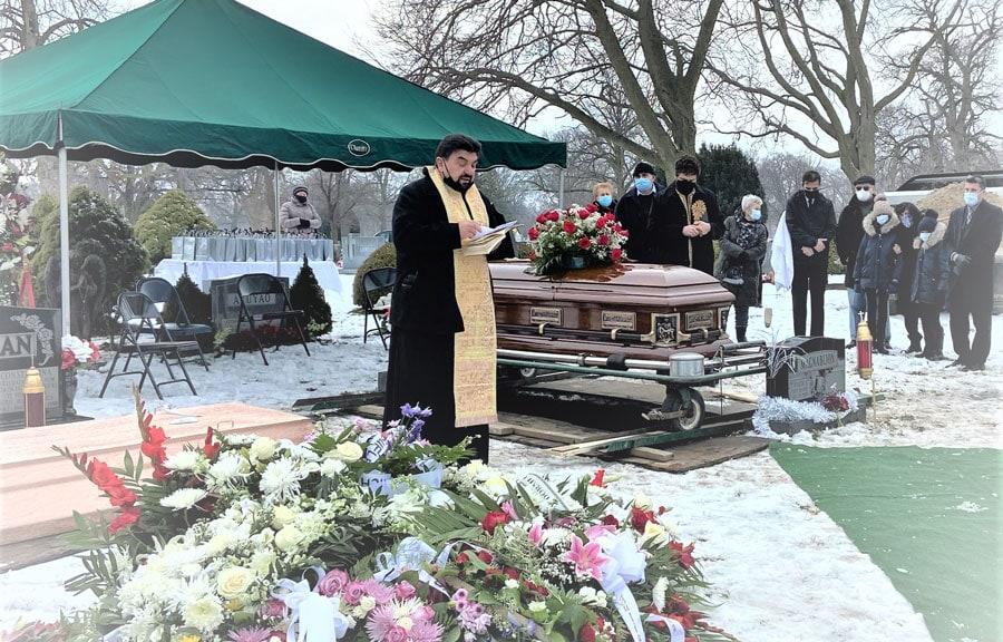 Elogiu adus la serviciul religios de înmormântare de către părintele Nicolae Izbașa