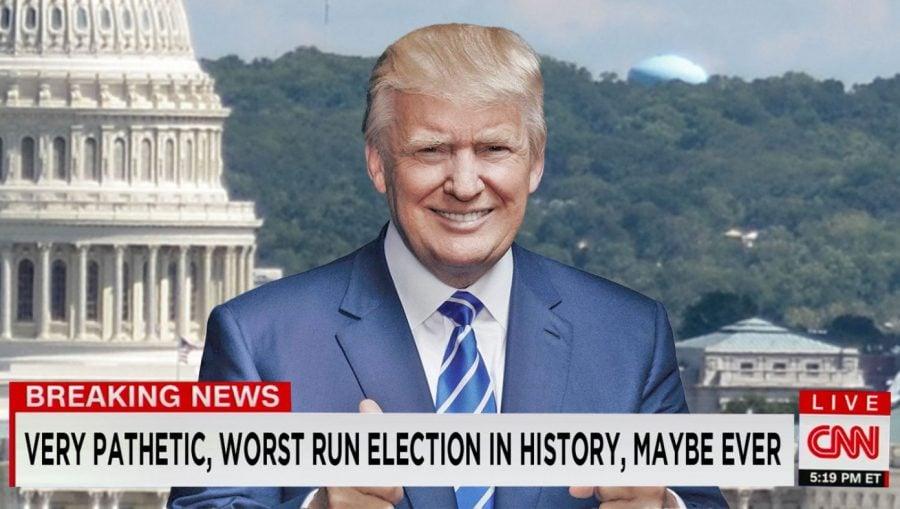 SATIRĂ: CNN îl angajează pe Trump ca prezentator de știri pentru a-și recupera audiența