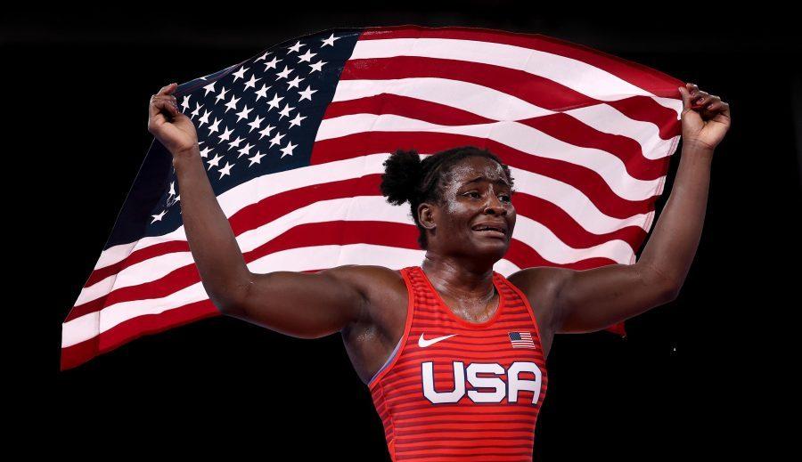 """""""Sunt mândră să reprezint SUA"""": Luptătoarea americană ține un discurs patriotic după câștigarea medaliei de aurla JO"""