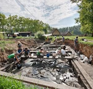 Intervenció arqueològica al jaciment de la Draga. Fotografia: Arqueoxarxa. Josep Casanova