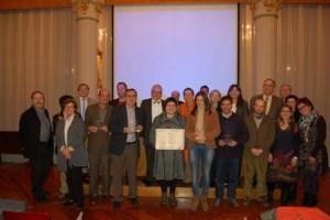 Lliurament dels XX Premis Auriga a l'aula capella de la Universitat de Barcelona.