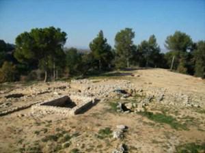Vista del jaciment del Turó de la Font de la Canya. Imatge: ROCS Patrimoni SL