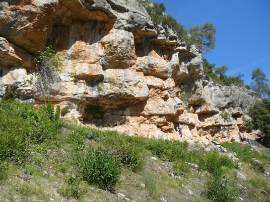 Localització de les pintures rupestres de la Vall II a Capçanes (Priorat)