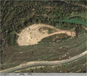 Imatge aèria del jaciment del Castellvell (Olius, Solsonès)